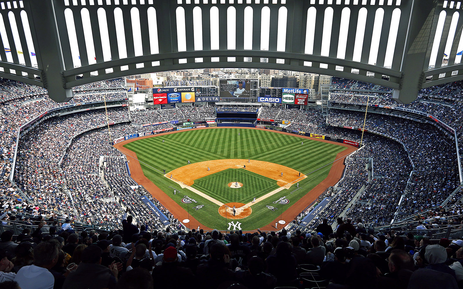 yankee stadium Baseball almanac researches yankee stadium and provides every bit of statistical ballpark information possible.