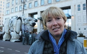 Emma Thompson protest Shell's arctic drilling