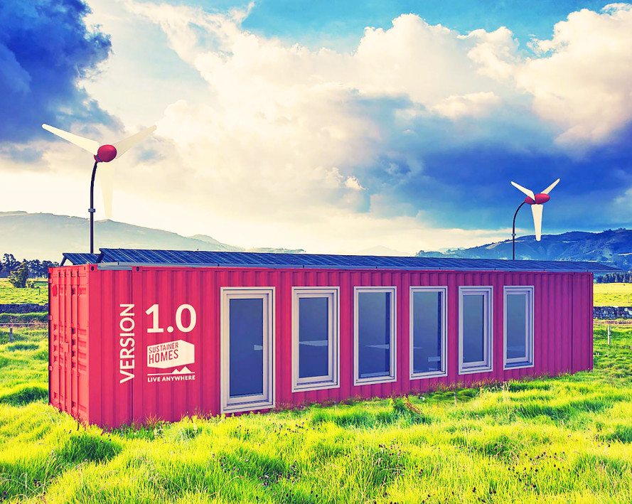 Off grid container home